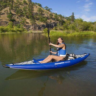 Girl paddling Aquaglide chelan