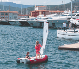 Dinghy Go sailing two women