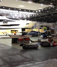 London boat show in set up phase