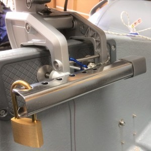 Outboard clamp lock