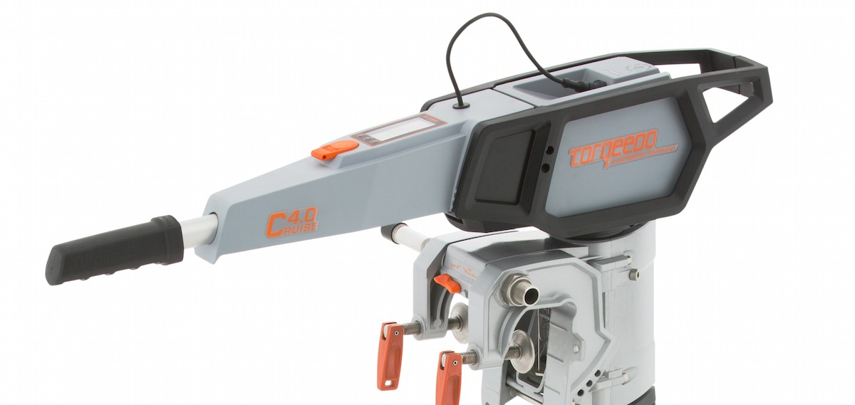 torqeedo cruise electric outboard tiller close up