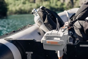 Close up of motor on a RIB