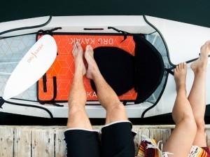 Oru Beach cockpit with feet