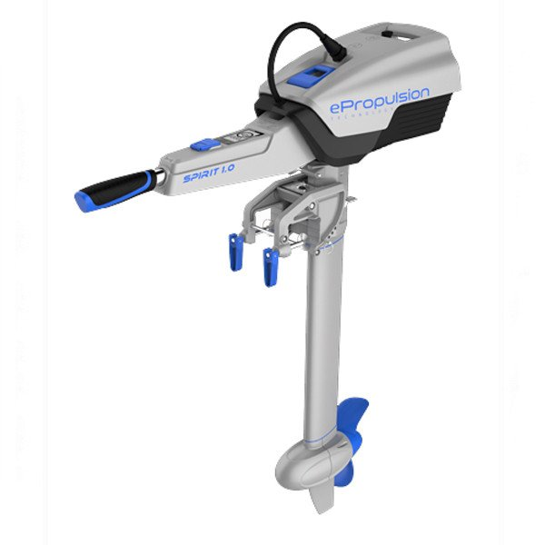 Epropulsion spirit 1kw electric outboard from nestaway boats for Outboard motor for canoe